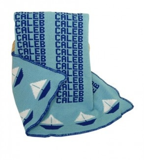 7 best nautical themed baby gifts images on pinterest nautical personalized sailboat knit blanket negle Gallery