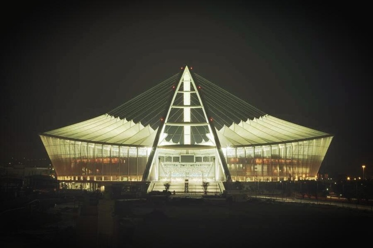 Moses Mabhida Stadium is a stadium in Durban, South Africa. Opened in 2009. Specifically built for the 2010 Fifa World Cup. Can seat upto 85,000.