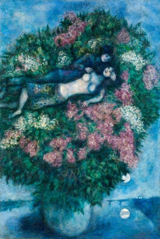 Marc Chagall. Les amoureux aux lilas 1930