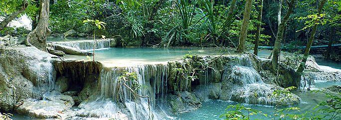 National park erawan Thailand