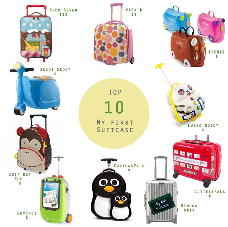 Top 10 kids suitcase selection. Great 2nd birthday gift once they don't fly free anymore!