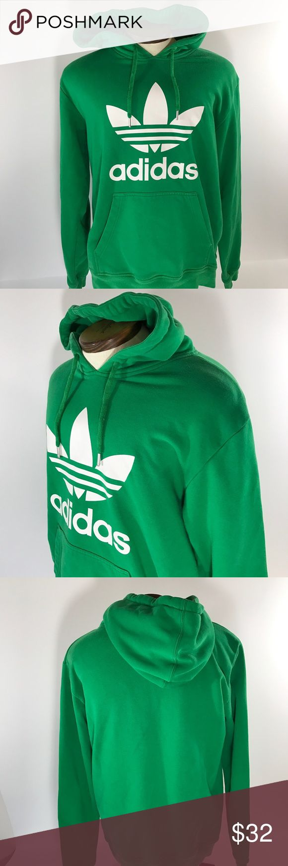 Men Adidas Firebird Green Hoodie SweatShirt Size L Condition no rips no stains  Measurements  Chest measures armpit to armpit 23 inches  Length measured middle back a shirt from bottom collar to bottom 27 inches Adidas Shirts Sweatshirts & Hoodies