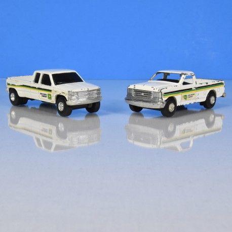 John Deere Dealers pickups Ertl GMC Dually and Ford F-150