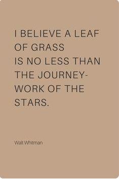- Walt Whitman