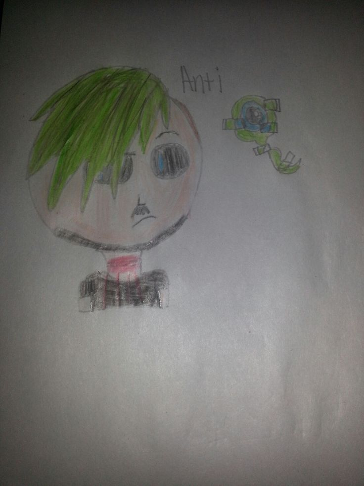 #Septicart My first attempt at drawing Anti. I l like it! What do you guys think? I might try Dark next...... Drawn by Hollysplash 227 I FORGOT TO MAKE HIM GLITCHY TOO CRAPORONI