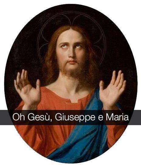 "Jean Auguste Dominique Ingres . "" Il Cristo benedicente """