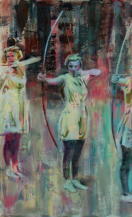 oil & acrylic archer, by Antonio Lee