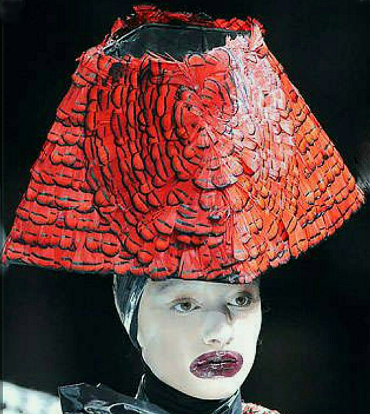 Alexander McQueen's  'Horn of Plenty' headgear.  Philip Treacy.