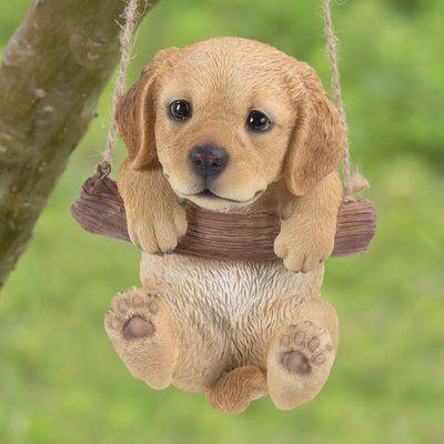 Hi-Line Gift Ltd. Hanging Golden Retriever Puppy Statue – Cani
