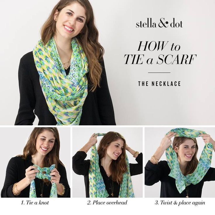 We love playing around with new ways to wear our favorite scarves. Up first: The Necklace tie. Shop all scarves at Stella & Dot