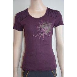 Nothing Else dámské tričko, krátký rukáv vínovo hnědé S