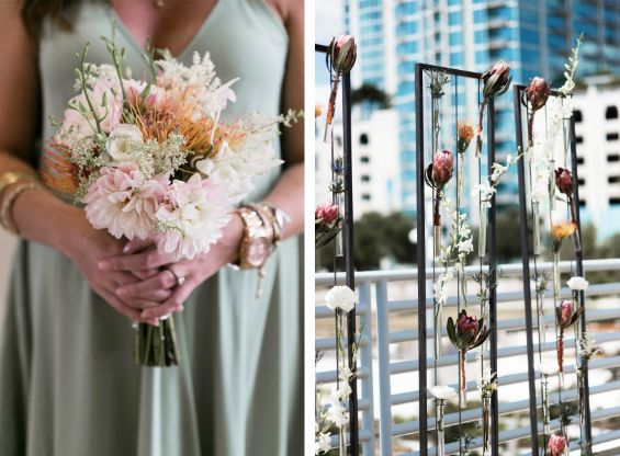 Swooning over the mix of elegant and whimsical floral details in this wedding (Photos by K And K Photography  via Style Me Pretty)
