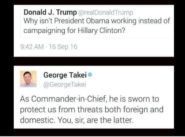 Funniest Political Memes of 2016: George Takei on Trump