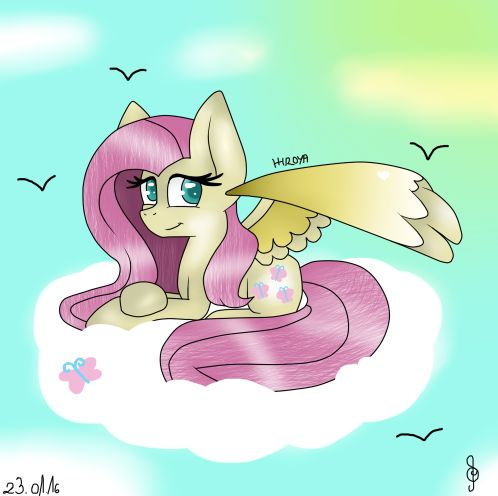 I know it's late! But i want it! I want share it in Pinterest and Deviantart: http://hiroyaanagasaki.deviantart.com/art/Fluttershy-586314171?ga_submit_new=10%253A1453598160