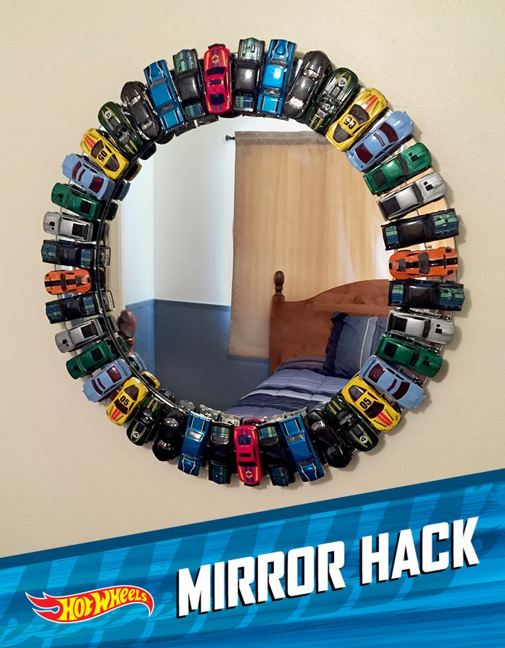 Give Your Room a Make-Over…Hot Wheels Style. Great DIY idea for home decor to match the Step2 Hot Wheels Toddler-to-Twin Race Car Bed!