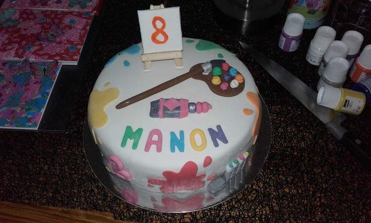 Gâteau d'anniversaire loisirs créatifs