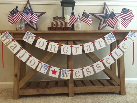 Military Promotion Party Garland Banner Custom by ArmyMOMOfTwins: