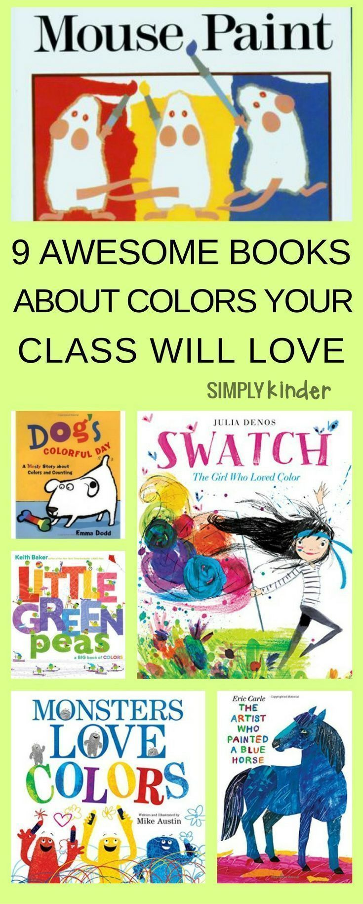 9 Awesome Books About Color Your Class Will Love | Books | Pinterest ...
