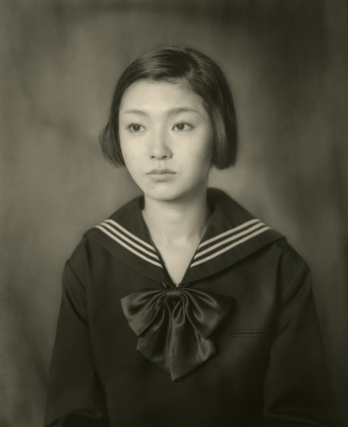 """A Study of the """"Portrait of Therese"""" by Hisaji Hara after Balthus. Photographic print."""