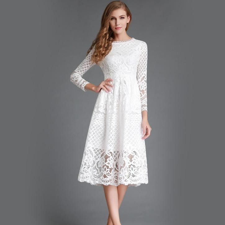25  best ideas about White lace dresses on Pinterest | Lace dress ...