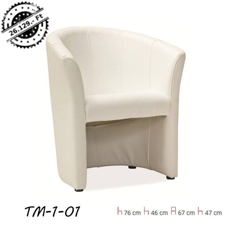TM-1 Klubfotel Krém Színben Kiváló nappalikba és ügyfélvárókba is! Egyéb színekben is elérhető: zöld, fehér,krém, piros, világosbarna, sötétbarna, kék, fekete.