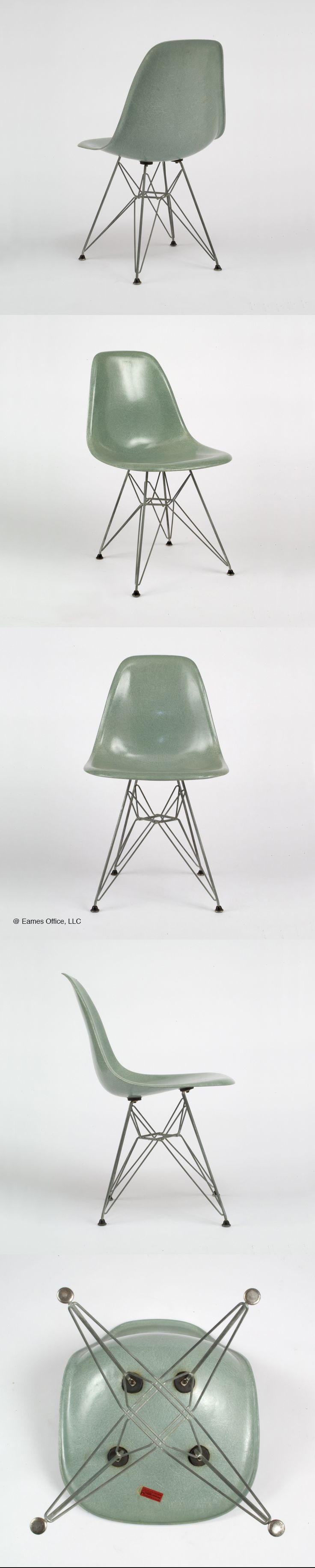This vintage #Eames DSR in a color devised by Charles and Ray Eames: Sea Foam Green #seafoamgreen beckons you to learn more about Eames designs, on our website!  #Eames @hermanmiller @vitra