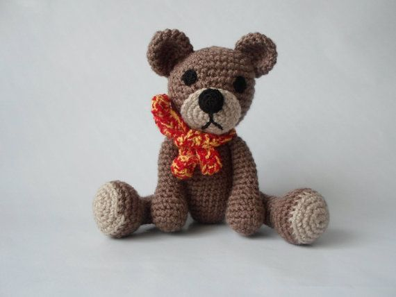 Bear Teddy Amigurumi Crochet Stuffed Toy Animal