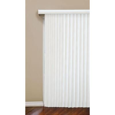 designview Crown-Cottage White 3.5 in. Vertical Blind - 104 in. W x 84 in. L-10793478805044 - The Home Depot