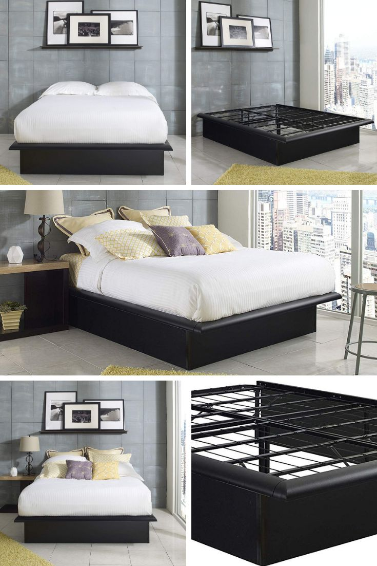 The Heavy Duty Minimalist Bed Frame Amazon Com Ad Eliminate Creeks Noises And Box Springs With Minimalist Bed Metal Platform Bed Minimalist Bed Frame