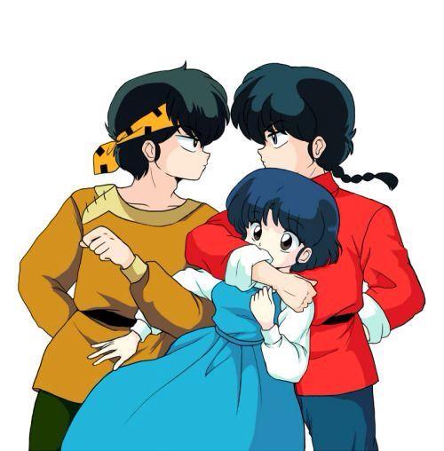 Ryoga, Akane and Ranma