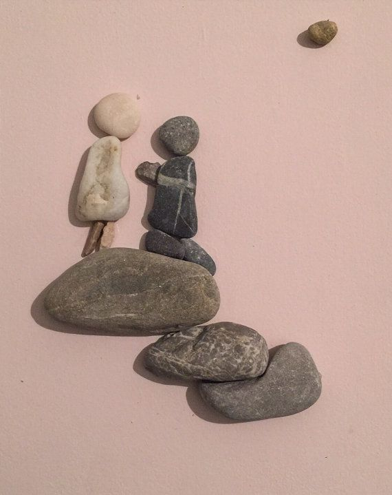 Stone people-Will you marry me by LiseStones on Etsy