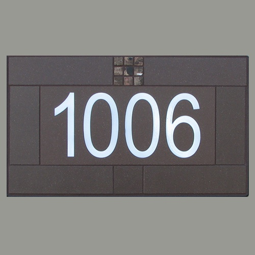 House Numbers   Mocha Durastone 1006