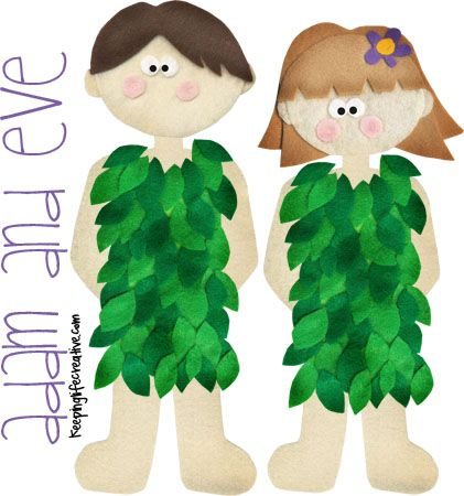 adam and eve felt printable by keeping life creative