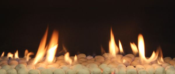 Small White Coals, fireplace in lounge