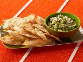 Guacamole with Cumin Dusted Tortillas from CookingChannelTV.com