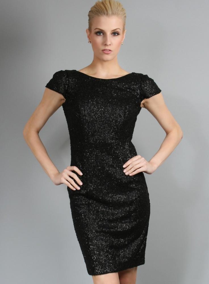 Sequin Cap Sleeve Cocktail Dress