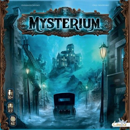 Mysterium is a purely co-operative game for 2-7 players. One player takes the role of a helpful ghost who lives in a mysterious ancient manor. Other players are a group of psychics invited by the manor owner to solve the mystery of the place and bring peace to its residents, as any person who stays in the castle sees strange dreams.