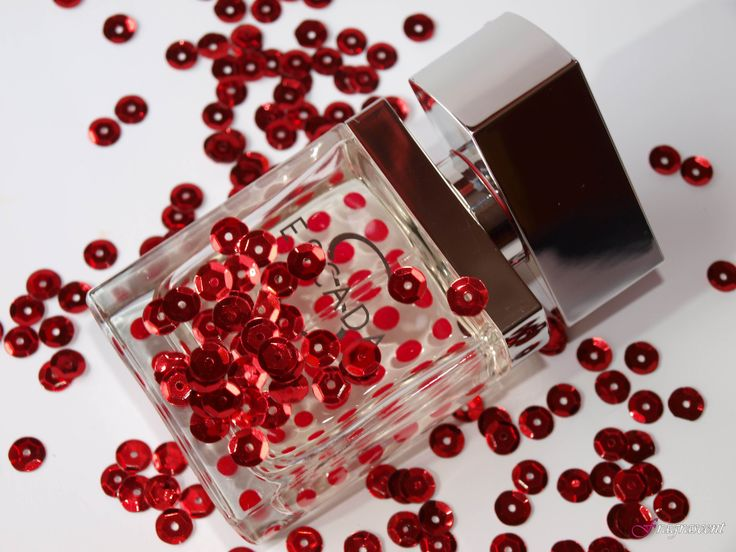 Escada S- perfume review on fragrascent.pl #escada #escada_s #perfume #fragrance #review #beauty #scent #perfumy #flakon #perfume_bottle #red #dot #dots #sequins #cekiny