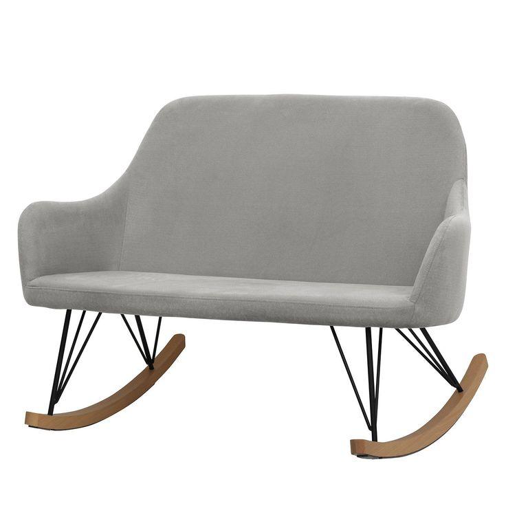 Moerteen's rocking sofa Malvan 2-seater platinum woven ...
