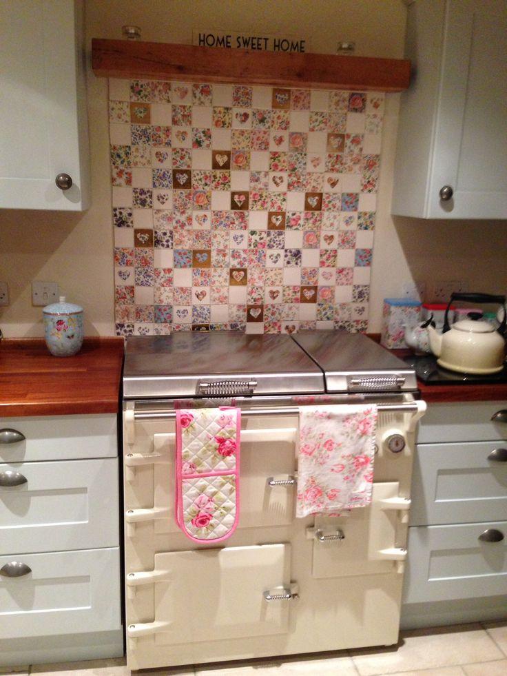 Welbeck vintage patchwork tiles. Everhot.