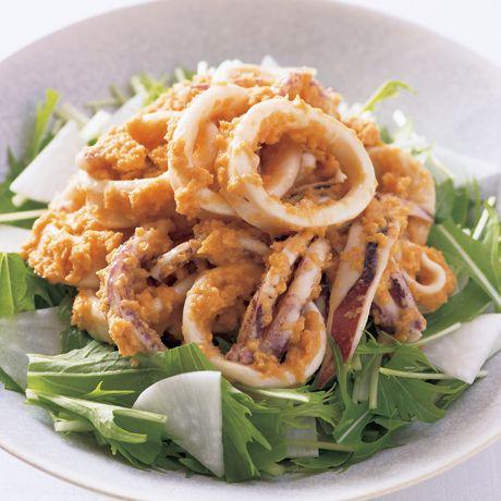 いかのにんじんごまだれサラダ   伊藤晶子さんのサラダの料理レシピ   プロの簡単料理レシピはレタスクラブネット