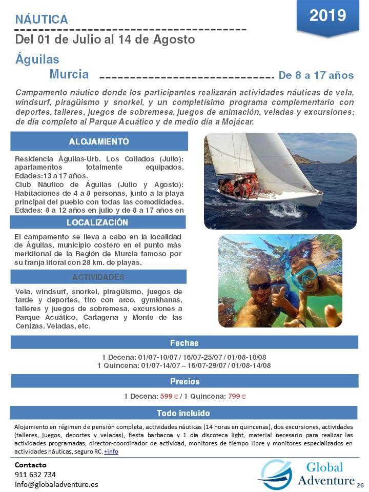 Campamento Náutico En águilas Murcia Campamento De Verano Murcia Aguilas Murcia