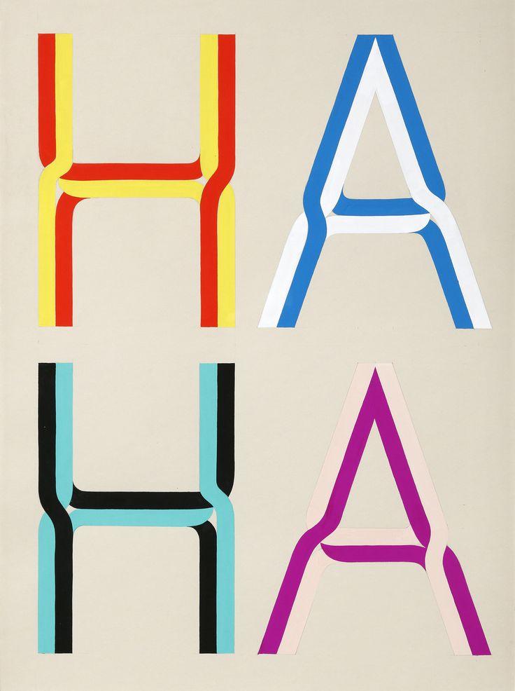 Tauba Auerbach  HA HA 1  2008  Gouache on paper  30 x 22 inches  76.2 x 55.9 cm