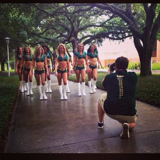 Filming for the new USF football commercial! Only 45 days until kickoff! @usfathletics