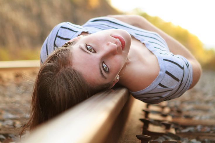 Railroad posing ideas. Photograph On The Rail by Tracy Parker on 500px