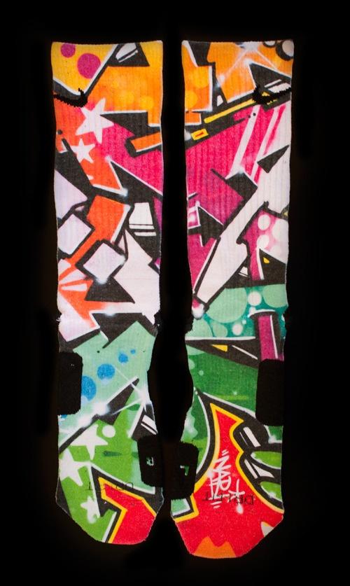 FreeStyle Graffiti Elites - Custom Nike Elite Socks