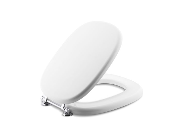 Kallista toilet seats come in many styles. Traditional in style, the For Town by Michael S Smith Colored Toilet Seat, Elongated, with Nickel Silver Trim will enhance the look of any bath.
