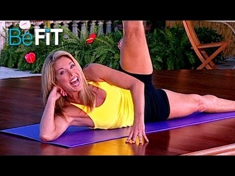 Denise Austin: Pilates- Hips, Thighs  Butt Workout is an effective, 10-minute lower-body workout that is designed to burn calories, strengthen the core, and build lean muscle as you tone the hips, thighs, legs, abs and buns with a unique series of Pilates Floor exercises. Blast away cellulite and burn fat as you slim the waistline with Iconic F...