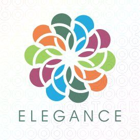 Exclusive Customizable Colorful  Logo For Sale: Elegance | StockLogos.com
