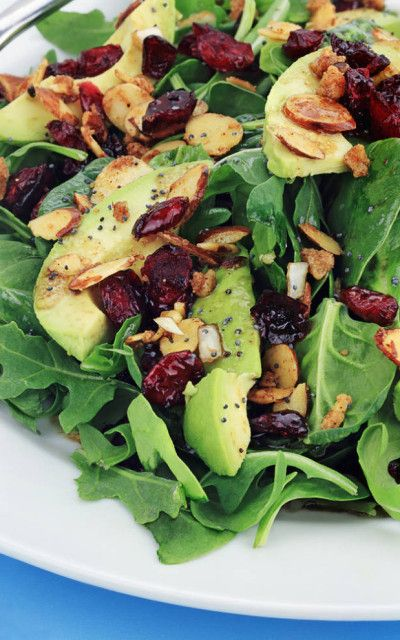 Cranberry Avocado Salad with Sweet Balsamic Vinaigrette